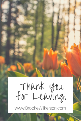 Thank You for Leaving Graphic